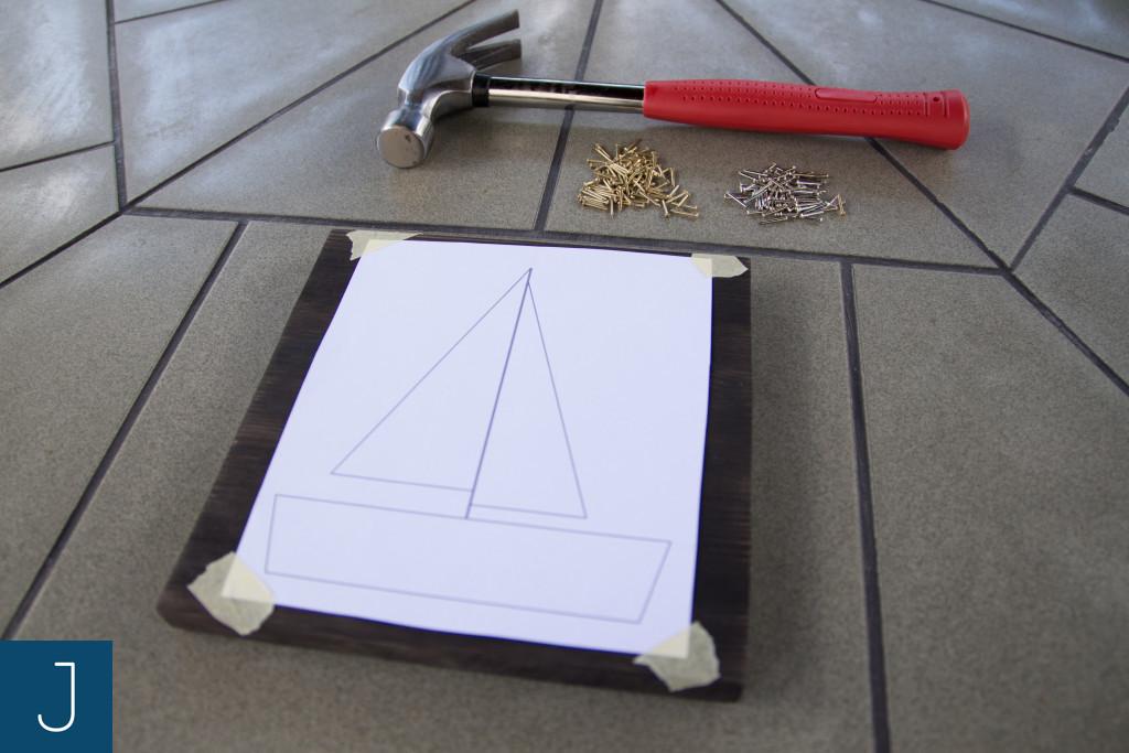 String art krok po kroku- szablon (brown) | Justine Crafts