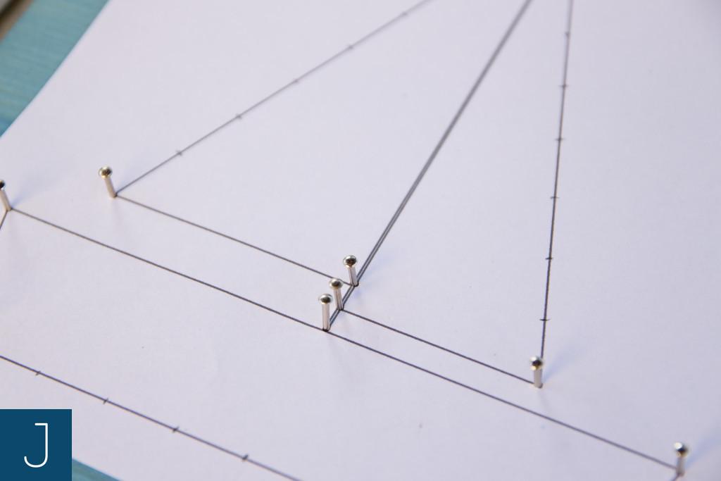 String art krok po kroku - zaznaczanie punktów | Justine Crafts