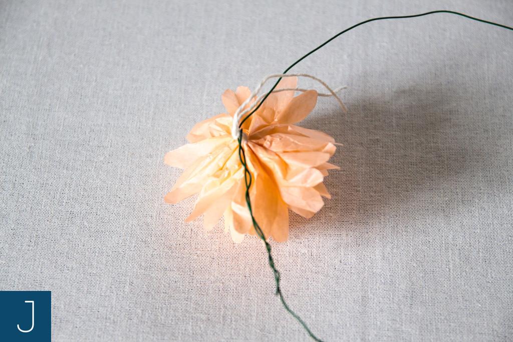 Letni wianek - mocowanie kwiatu | Justine Crafts