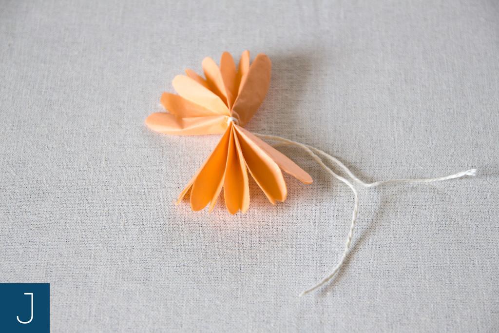 Letni wianek - rozłożenie harmonijki | Justine Crafts
