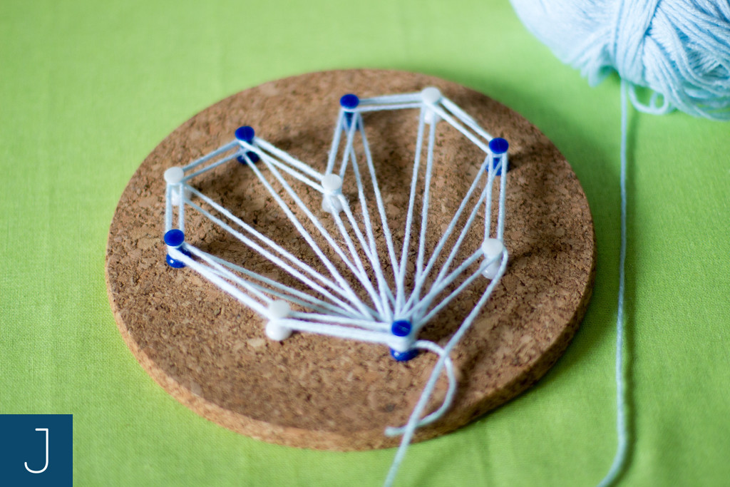 String art - włóczka 2 | Justine Crafts