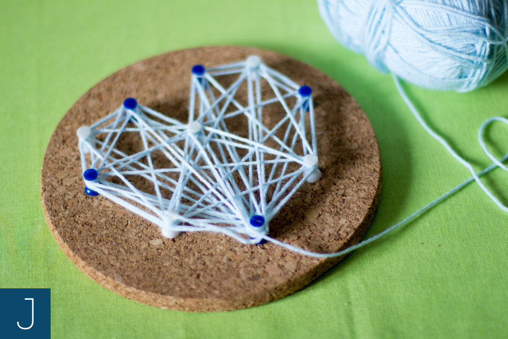 String art - włóczka 3 | Justine Crafts