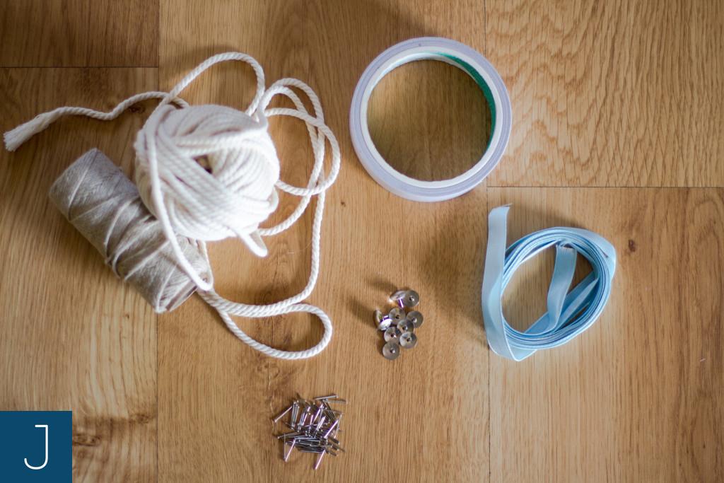 Jak zawiesić wianek lub lekki obrazek? - materiały |Justine Crafts