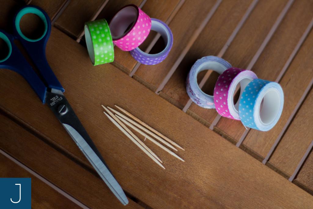 Kolorowe flagietki - materiały | Justine Crafts