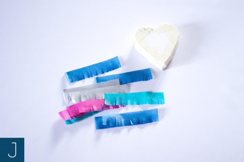 Mini pinata - paski z bibuły 2 | Justine Crafts
