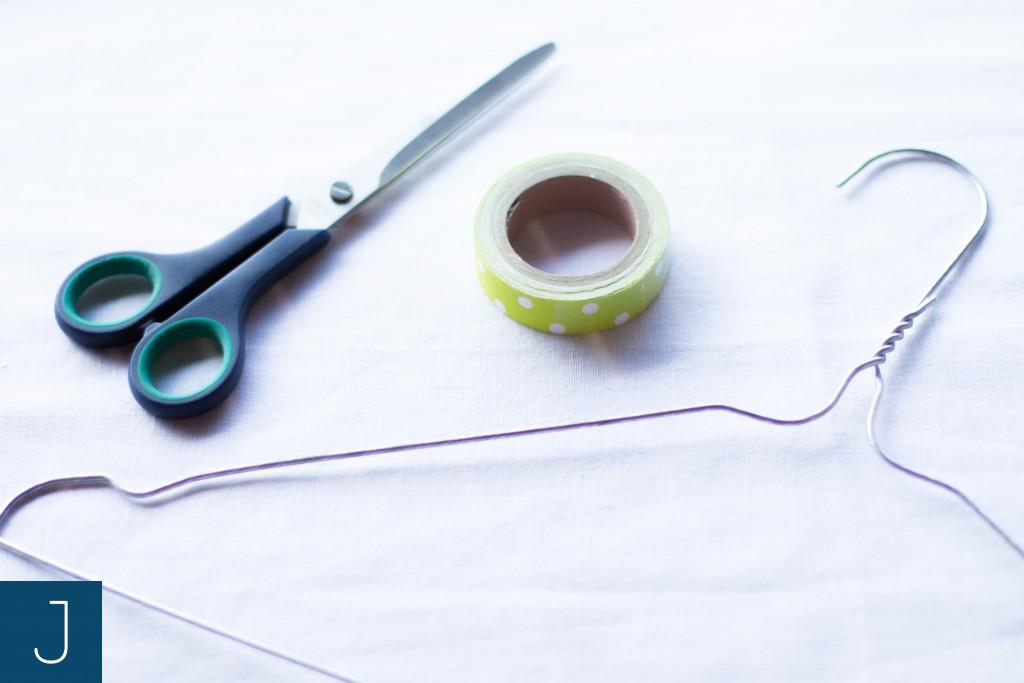 Wieszak z drutu - materiały | Justine Crafts
