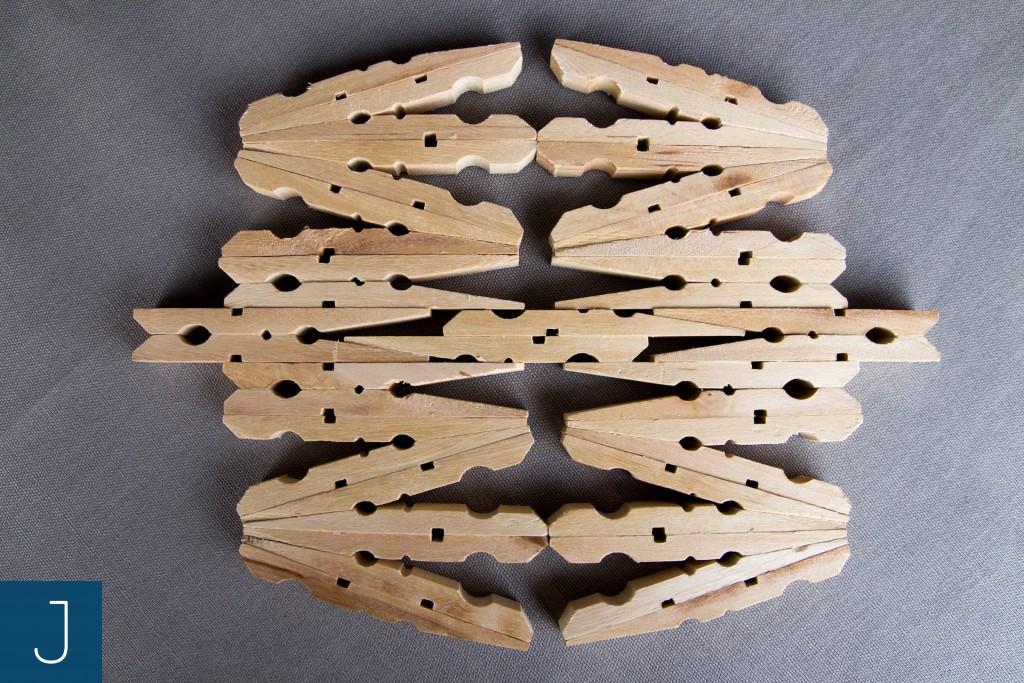 Drewniane podkładki pod kubek - duża 1 | Justine Crafts