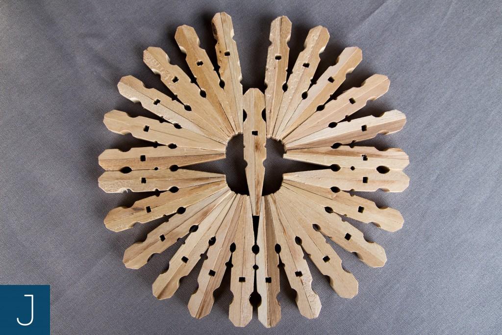Drewniane podkładki pod kubek - duża 2| Justine Crafts