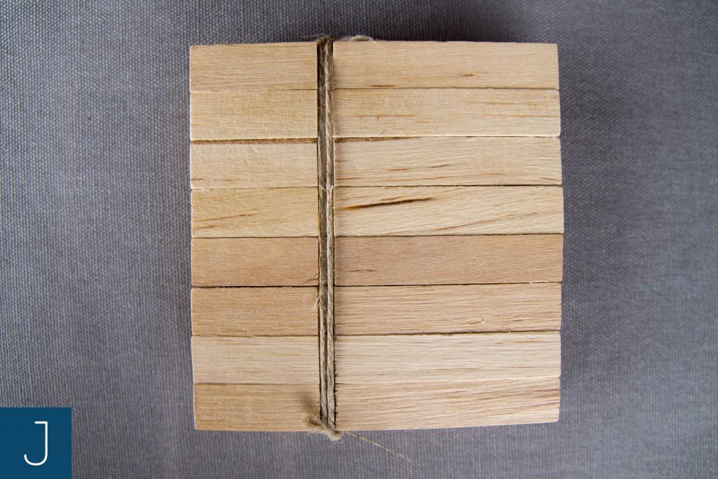 Drewniane podkładki pod kubek - mała 2 | Justine Crafts
