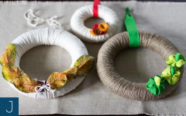 Wianek ze sznurkiem | Justine Crafts
