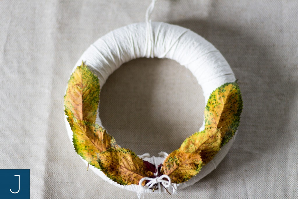Wianek ze sznurkiem - liście 2 | Justine Crafts