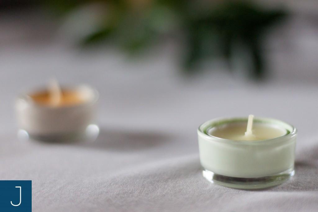 Metamorfoza szklanych świeczników - świeczka | Justine Crafts