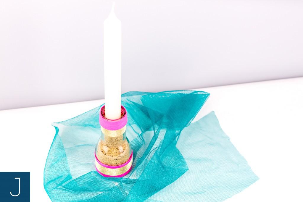 Uniwersalny świecznik DIY - świeca| Justine Crafts