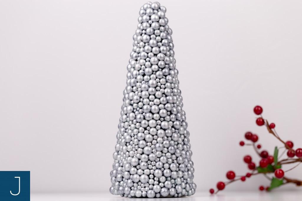 Choinkowy zawrót głowy cz. 2 – bąbelkowe choinki - srebro | Justine Crafts