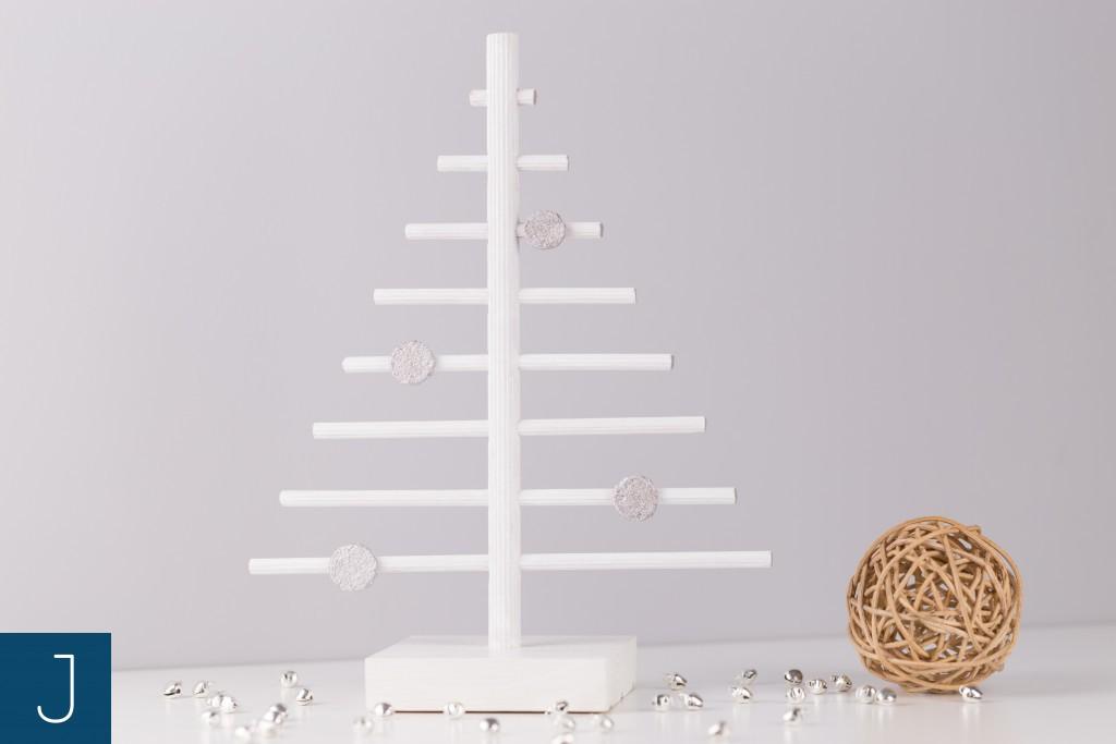 Choinkowy zawrót głowy - drewniane choinki - srebro | Justine Crafts