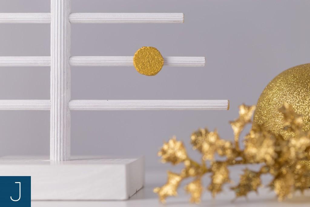 Choinkowy zawrót głowy - drewniane choinki - złoto detal | Justine Crafts