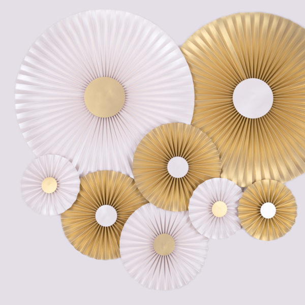 Justine Crafts | Rozety jasnozłote i perłowe