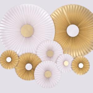 Justine Crafts | Rozety perłowe i jasnozłote
