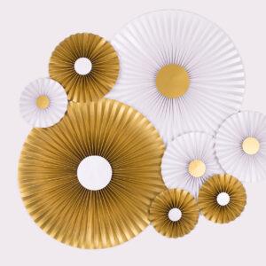 Justine Crafts | Rozety perłowe i złote