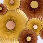 Justine Crafts   Rozety złote i miedziane