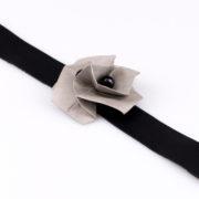 Bransoletka Twist Rose czarna | Justine Crafts
