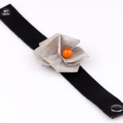 Bransoletka Twist Rose pomarańczowa   Justine Crafts