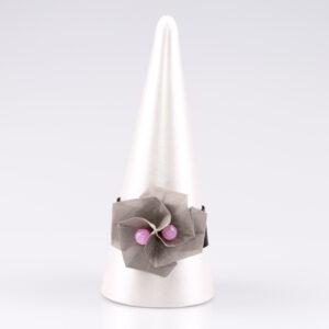 Bransoletka Twist Rose różowa | Justine Crafts