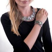 Naszyjnik i bransoletka Waves | Justine Crafts