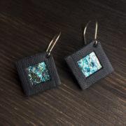 Kolczyki wiszące kwadratowe 2 cm | Justine Crafts Jewelry