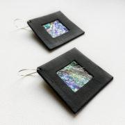 Kolczyki wiszące w kształcie kwadratu 4 cm | Justine Crafts Jewelry
