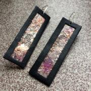 Kolczyki wiszące ze skóry 6 cm | Justine Crafts Jewelry