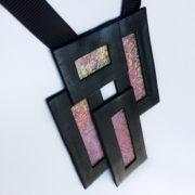 Naszyjnik geometryczny prostokąty 41 | Justine Crafts Jewelry