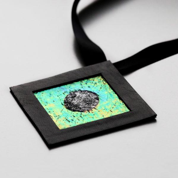 Naszyjnik geometryczny kwadrat 6 GF | Justine Crafts Jewelry