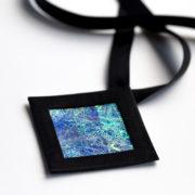 Naszyjnik geometryczny kwadrat 6 | Justine Crafts Jewelry