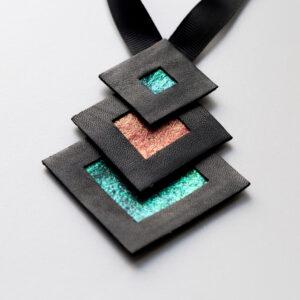 Naszyjnik geometryczny kwadraty 345 | Justine Crafts Jewelry