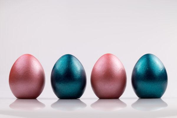 Justine Crafts | Jajka - różowo-turkusowe