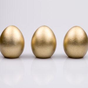 Justine Crafts | Jajka - złote