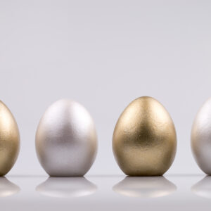 Justine Crafts | Jajka - złoto-perłowe
