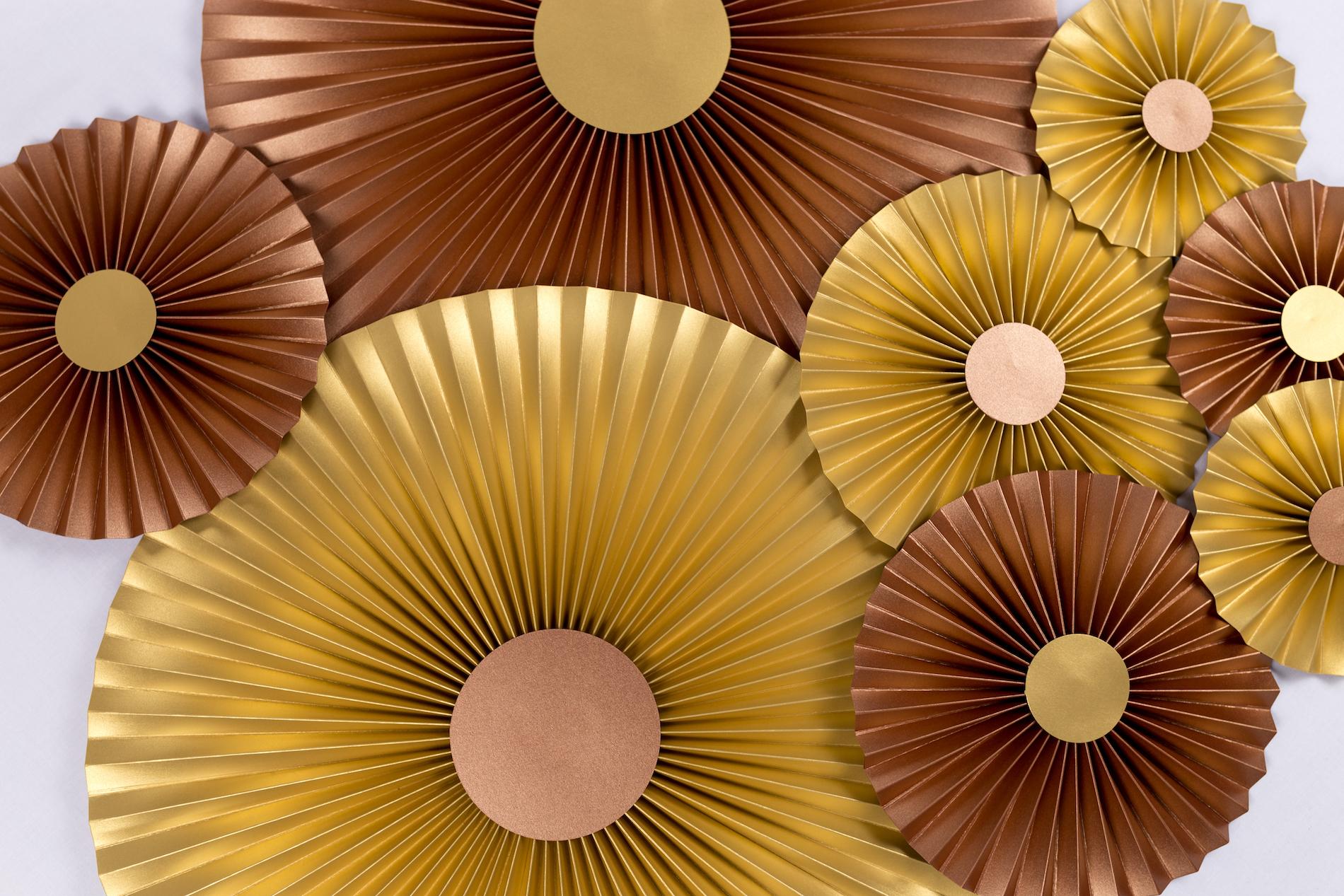 Justine Crafts | Rozety miedziane i złote