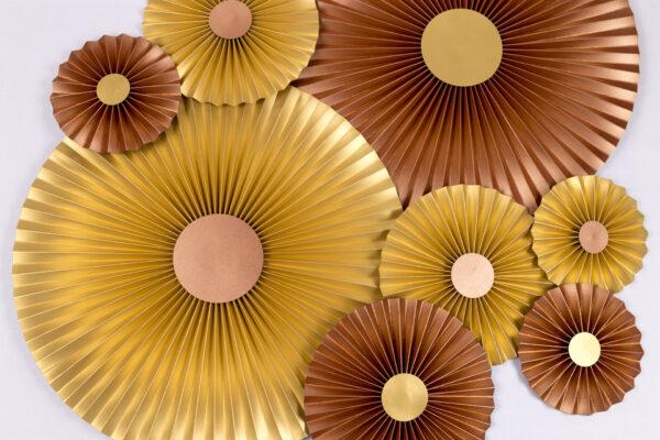 Justine Crafts | Rozety złote i miedziane