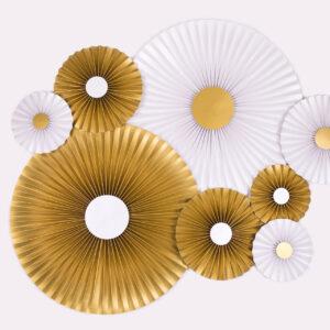 Justine Crafts | Rozety złote i perłowe w prążki