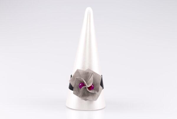 Bransoletka Twist Rose Fuksja | Justine Crafts
