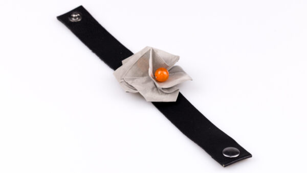 Bransoletka Twist Rose pomarańczowa | Justine Crafts