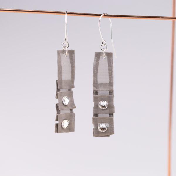 Kolczyki z kryształkami Swarovski 2   Justine Crafts
