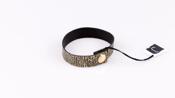 Złoto czarna bransoletka   Justine Crafts