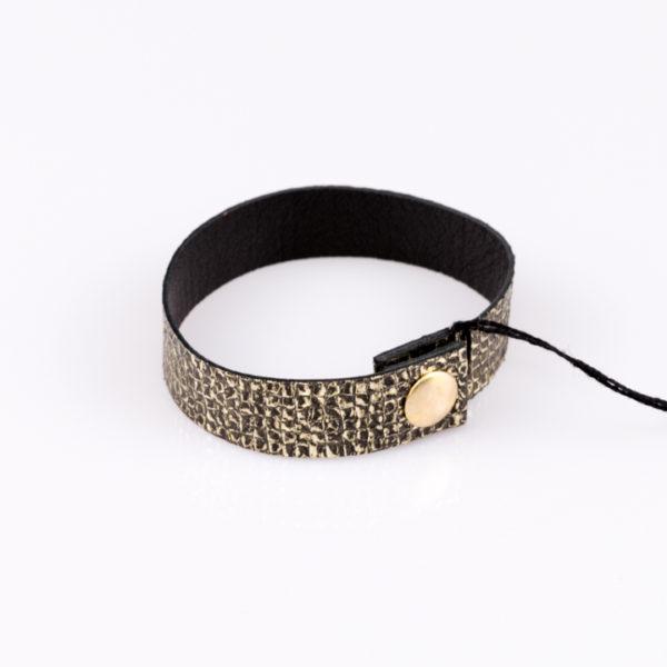 Złoto czarna bransoletka | Justine Crafts