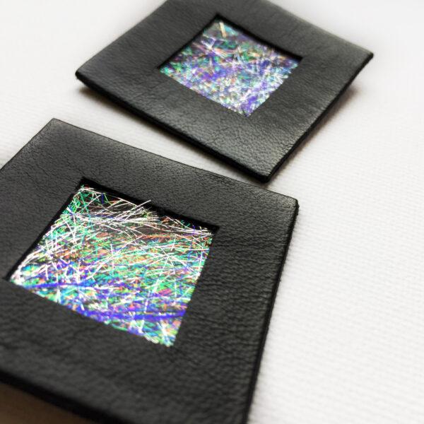 Kolczyki wiszące w kształcie kwadratu 4 cm   Justine Crafts Jewelry