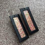 Kolczyki wiszące ze skóry 5 cm   Justine Crafts Jewelry