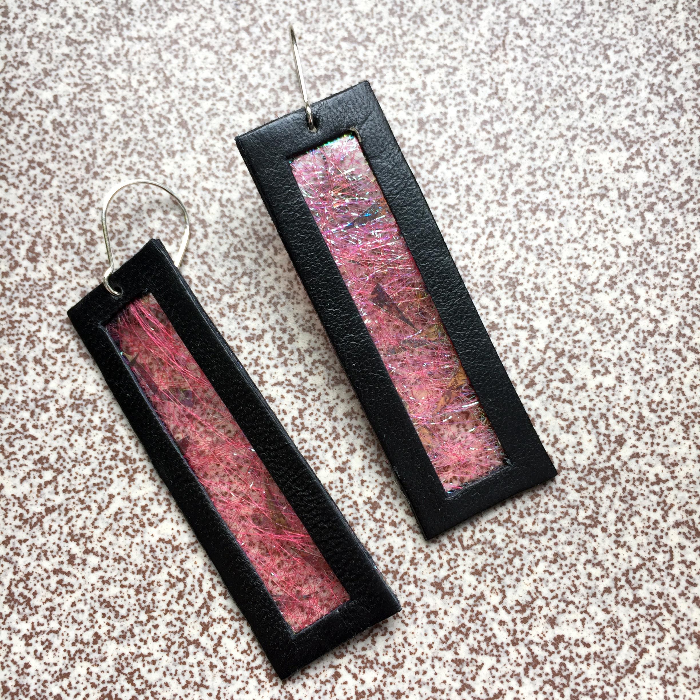 Kolczyki wiszące ze skóry | Justine Crafts Jewelry