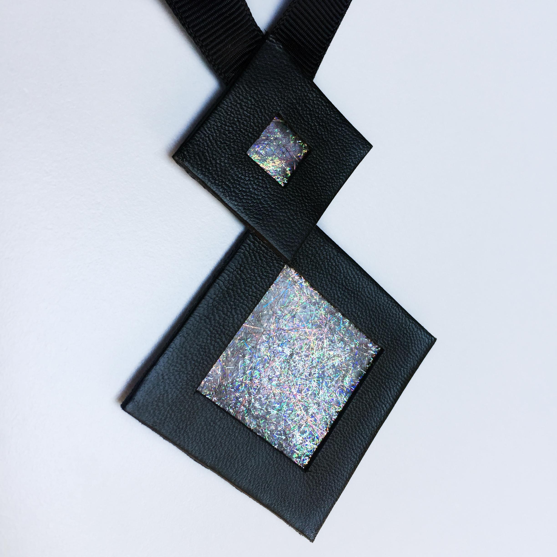 Naszyjnik geometryczny kwadraty 35 | Justine Crafts Jewelry
